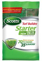 EARLY SUMMER: Scotts Turf Builder Starter Food for New Grass - Lawn Food - Scotts