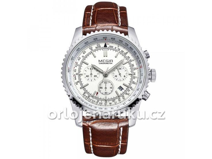 Hodinky Megir MEG2009G se vyznačují luxusním designem a velmi pěkným velkým ciferníkem, který na první pohled zaujme. Hodinky pohání strojek Quartz, ten je znám svou vysokou přesností. Tělo je vyrobeno z nerezové oceli a sklíčko je oděru-vzdorné.    Co dělá hodinky Megir výjimečnými      Sklíčko odolné proti poškrábání    Analogové vyobrazení času    Masivní ocelové tělo     Kvalitní a Přesný strojek Quartz     Zobrazení data     Řemínek z pravé kůže s klasickou sponou     Precizní…