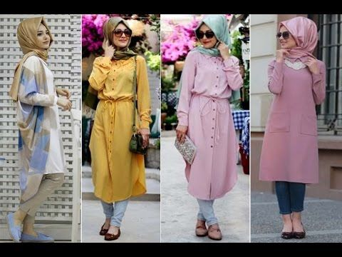 Casual Hijab Outfit -  Long blouse lookbook بلوزات طويلة للمحجبات 2