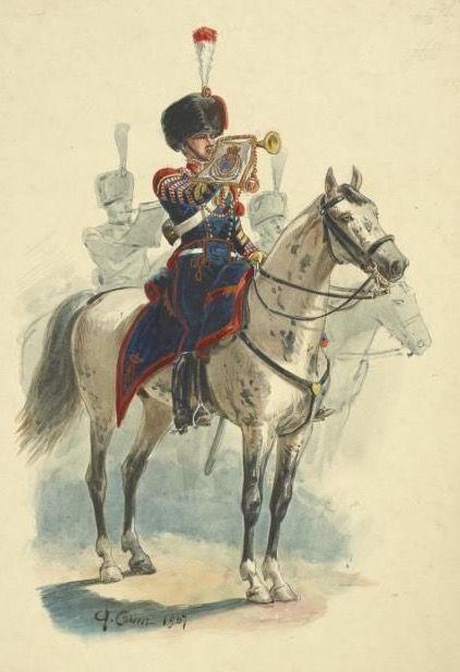 Tromba del 1 rgt. cavalleggeri del regno delle due Sicilie