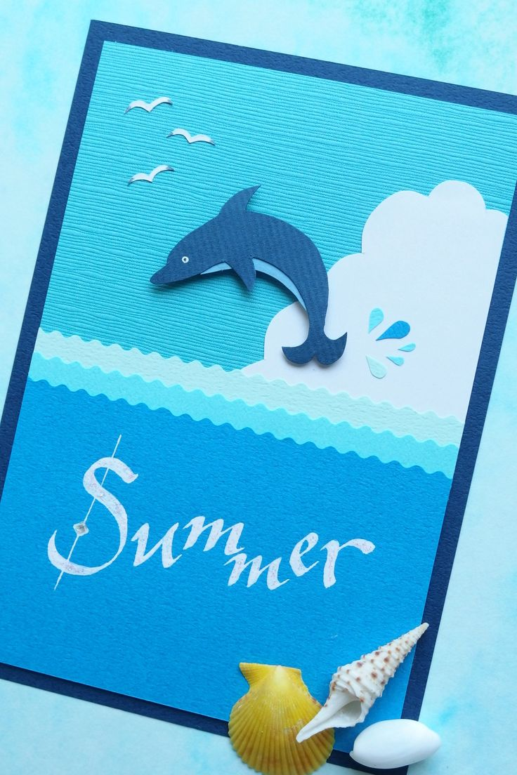 Summer Card / Paper craft and Calligraphy