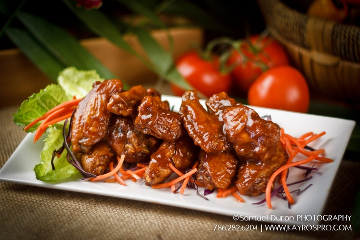 BBQ Chicken Wings @ Casavana Cuban Cuisine, Miami. © Copyright, Photo by Samuel Duran @ www.kayrospro.com, 305.791.2340