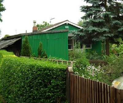 a corrugated metal plotland house Bewdley, Worcestershire