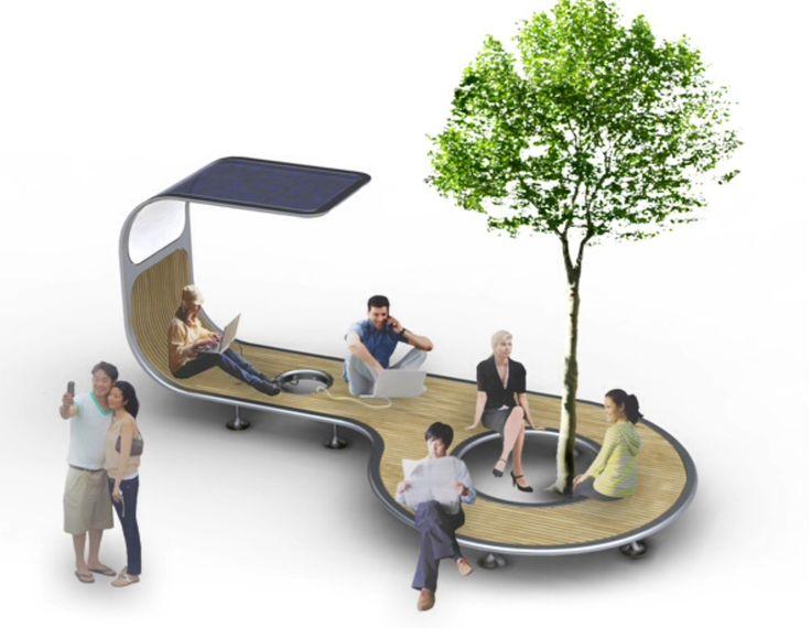 Interessante mobiliário urbano!