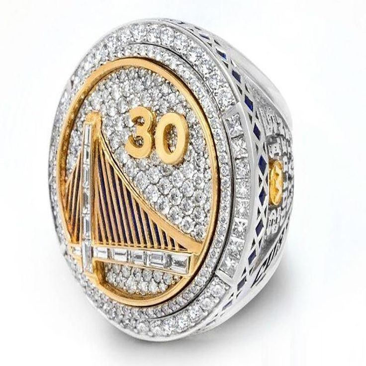 United States 2015 NBA Playoffs Golden State Warriors Curry Championship Ring Fans Memorial Jewelry 27*29mm