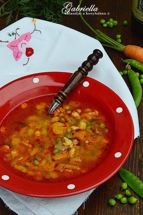 Gabriella kalandjai a konyhában :): Zsenge zöldborsóleves