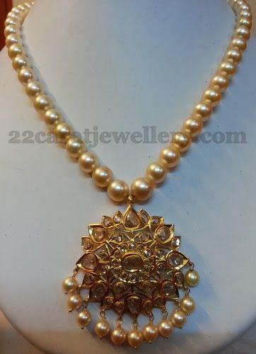 Jewellery Designs: Lovely Uncut Locket and Hoops