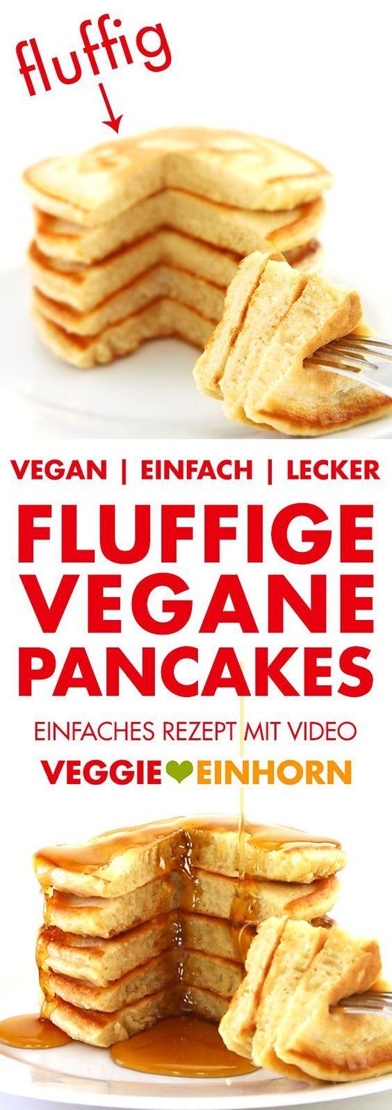 Flauschige vegane Pfannkuchen