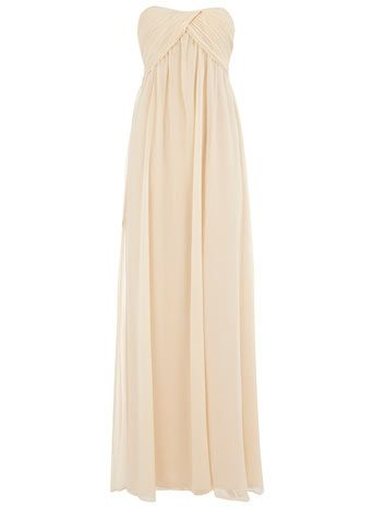 LOVE, would be great as either bridal gown or a short bridesmaid dress, cream bridesmaid dress