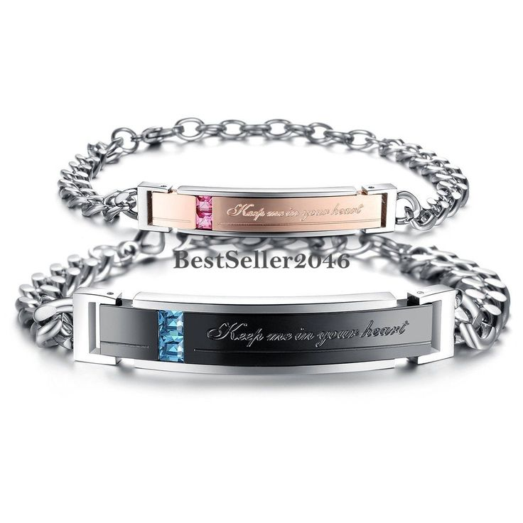 Stainless Steel Keep Me In Your Heart Couple Men Women Matching Promise Bracelet