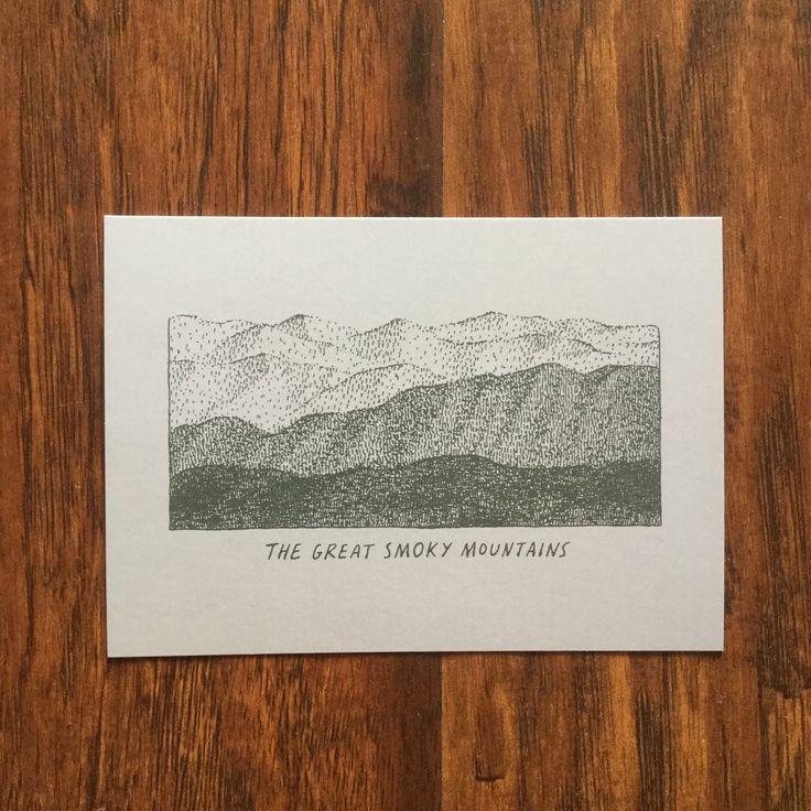 Smoky Sketch Postcard