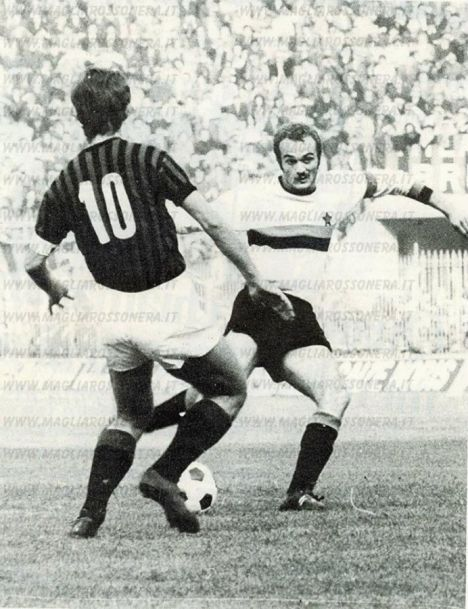 Gianni Rivera and Sandro Mazzola in a Milan-Inter derby