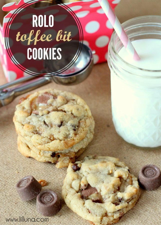 Rolo Toffee Chocolate Chip Cookies | Recipe | Toffee Bits, Rolo and ...