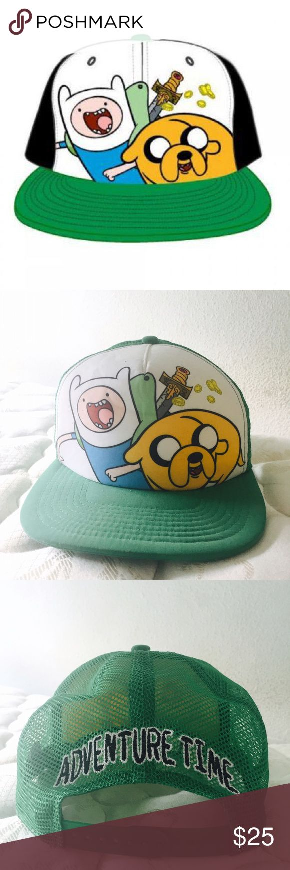 Adventure Time Finn & Jake SnapBack Trucker hat snap back by Adventure Time. Great condition, no stains. Hot Topic Accessories Hats