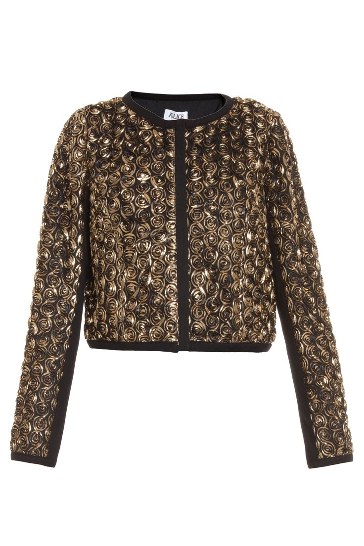 Donna Gold Rose Bomber by ALICE BY TEMPERLEY