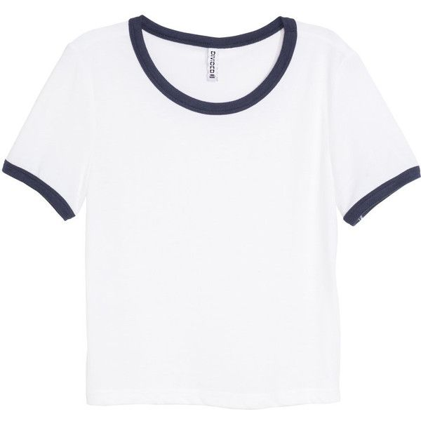 H&M Crop top ($11) ❤ liked on Polyvore featuring tops, t-shirts, shirts, white crop tee, white crop top, white tee, white sleeve shirt and crop tee