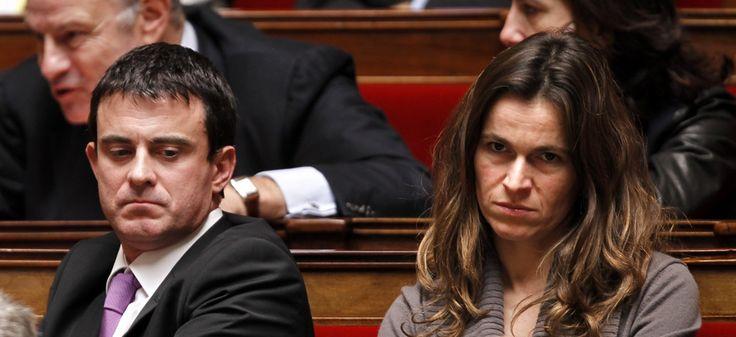 Aurelie Filippetti et Manuel Valls à l'Assemblée nationale, en 2010 | REUTERS/Charles Platiau.