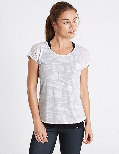 Printed Double Layer Sports T-Shirt | Marks & Spencer London