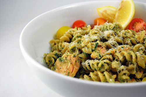 Dinner this week! - Salmon pesto pasta