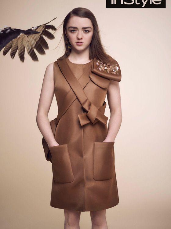 Мэйси Уильямс в новой фотосессии журнала InStyle UK