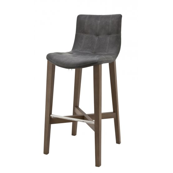 Barkruk Eden hoog, antraciet Chicago Collection Stoelen
