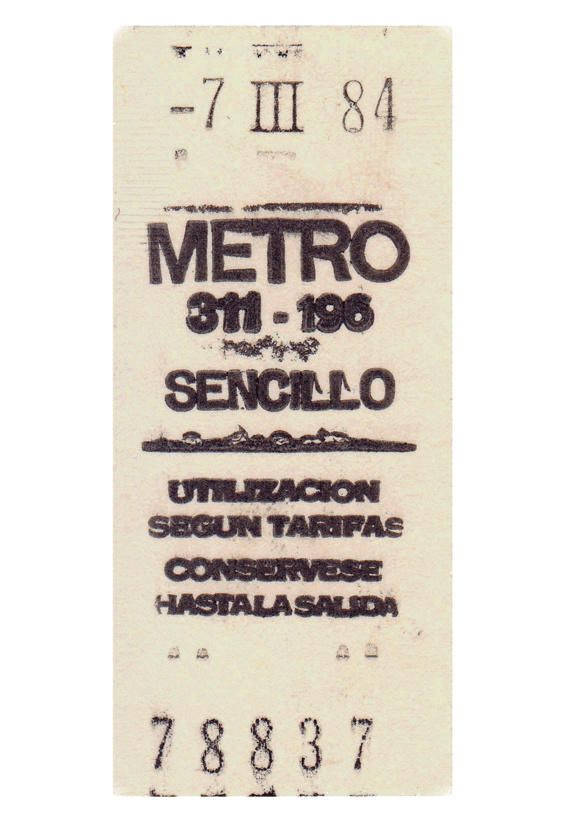 Madrid metro ticket via @Pablo Ilde Ilde Ilde Ilde Gamez