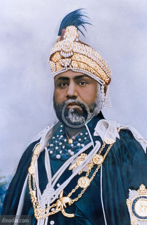 Portrait of maharaja sawai madho singh II ; jaipur ; rajasthan ; india