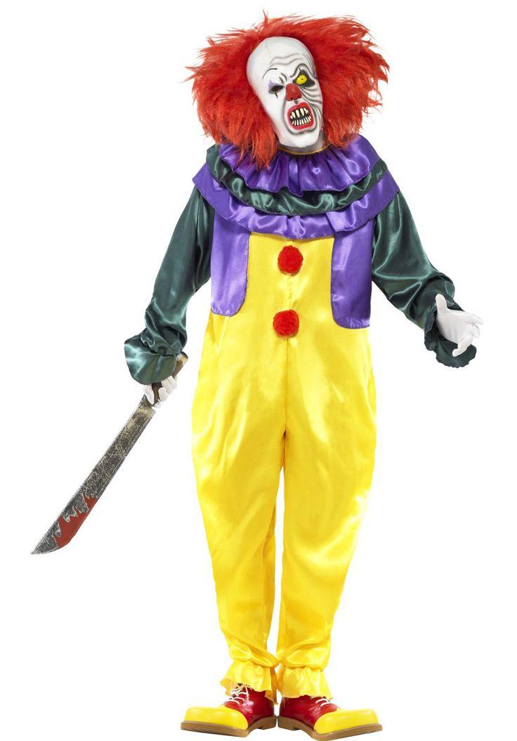 Classic Horror Clown Costume, Scary Halloween Clown - Halloween Costumes at Escapade™ UK