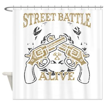 Street Battle Shower Curtain