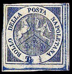 """ Тринакрия "" , Марка Неополитанской    провинция 1860 год. ,, $  143 000."
