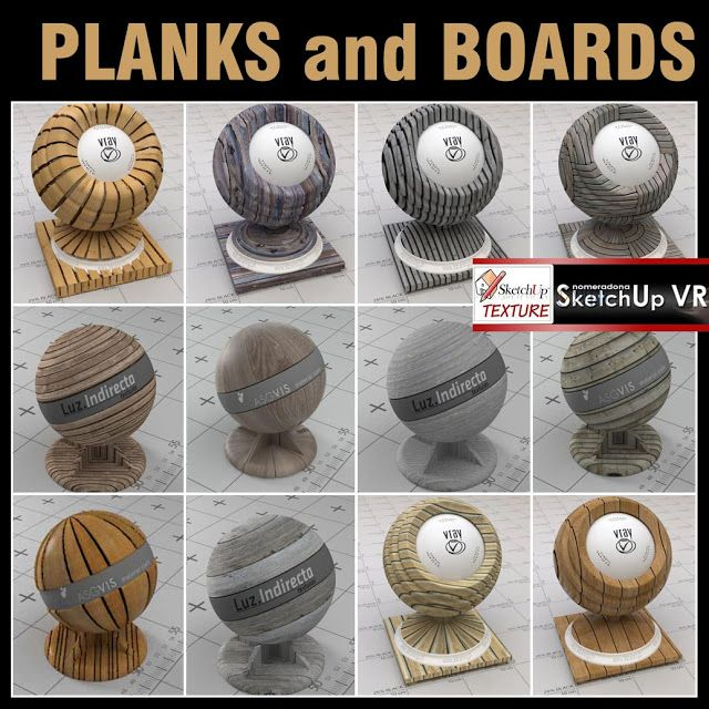 vismat vray for sketchup boards and planks #1