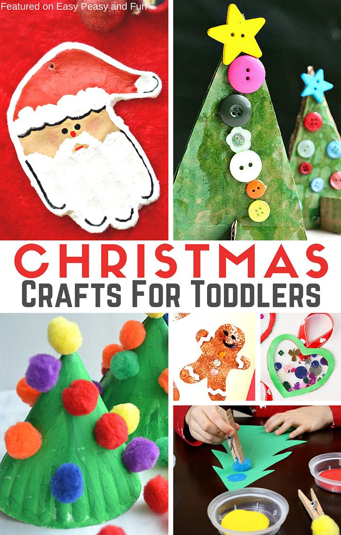 Simple Christmas Crafts for Toddlers Christmas crafts