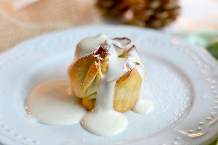Rezept: Apfelstrudeltörtchen mit ganz viel Vanillesauce #rezept #recipe #apfelstrudel #vanillesauce #apfel