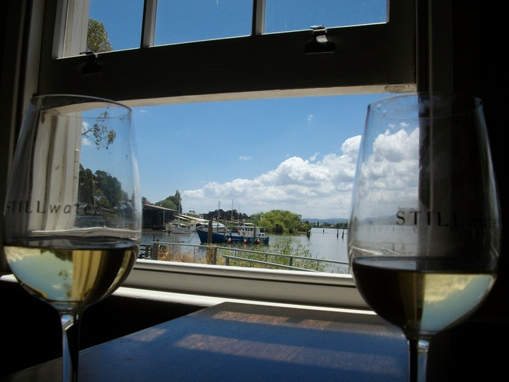 Lunch at Still Water over looking the Tamar River, Tasmania