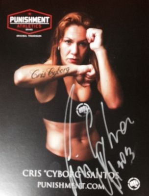 Cyborg 8 x 10 Autographed photo - Punishment Athletics