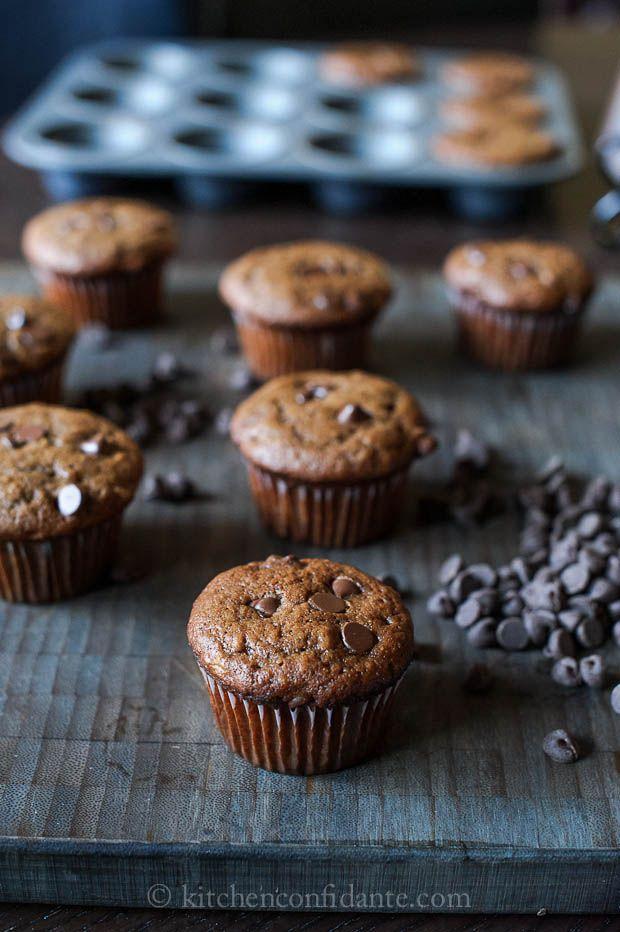 Chocolate banana muffinsHealth Desserts, Bananas Desserts, Recipe, Chocolates Bananas Muffins, Perfect Desserts, Desserts Health, Simple Sunday, Healthy Desserts, Stevia Muffins