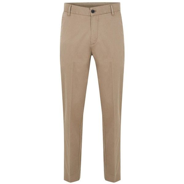 TOPMAN Dr Denim Stone 'Ledger' Chinos (435 CNY) ❤ liked on Polyvore featuring men's fashion, men's clothing, men's pants, men's casual pants, stone, mens chinos pants, mens slim fit chino pants, mens slim pants, men's relaxed fit pants and mens slim fit pants