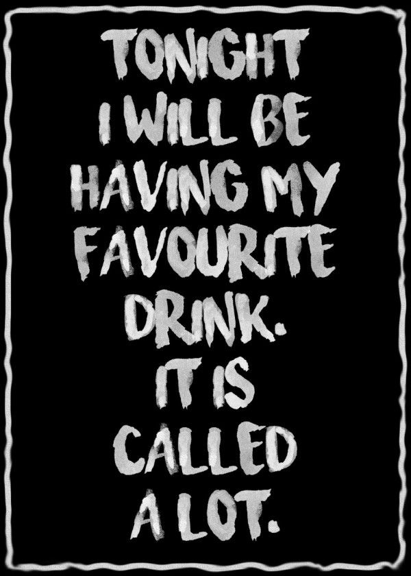A lot Text Art Poster Print | metal posters | Funny drinking ...