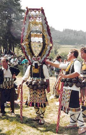 Slavic mythological folk-masks which were originated from Slavic women's shaman masks before the pagan era