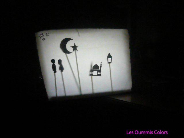DIY,théatre d'ombre chinoise pour le Ramadan