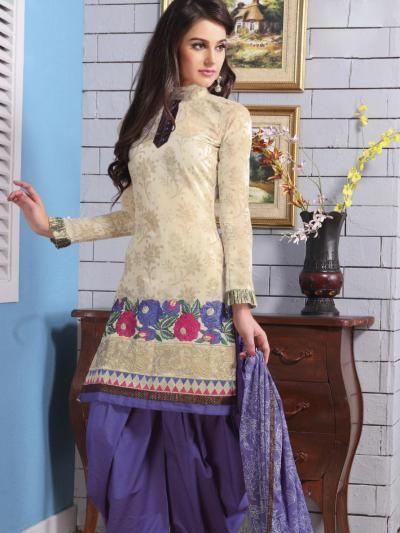 Gorgeous Creamish Salwar Suit @ INR 1,640