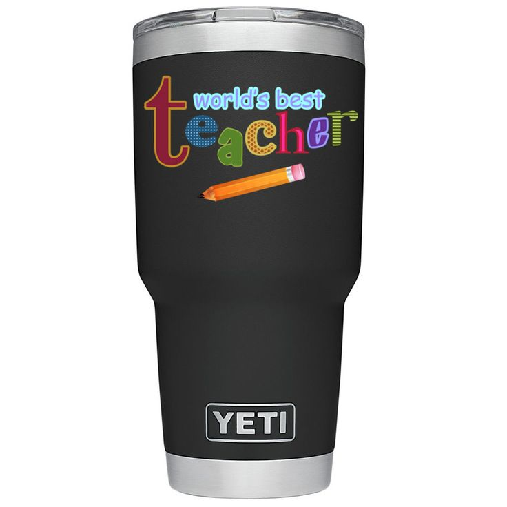 YETI 30 oz Worlds Best Teacher on Black DuraCoat Tumbler Tumbler