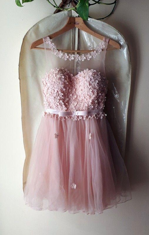 bdb14e35e0 pudrowo różowa sukienka wesele