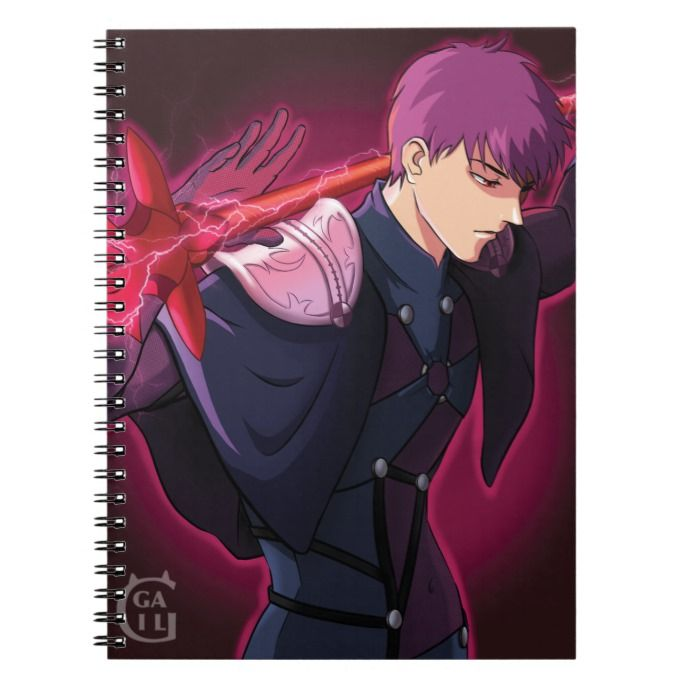 Scathach Fate Grand Order Male Version Notebook Custom Office Supplies Business Logo Branding Scathach Fate Japanese Notebook Fate Stay Night