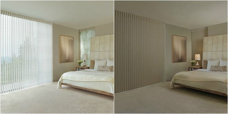 Hunter Douglas Luminette Privacy Sheers. From light filtering to room darkening, the perfect combination.