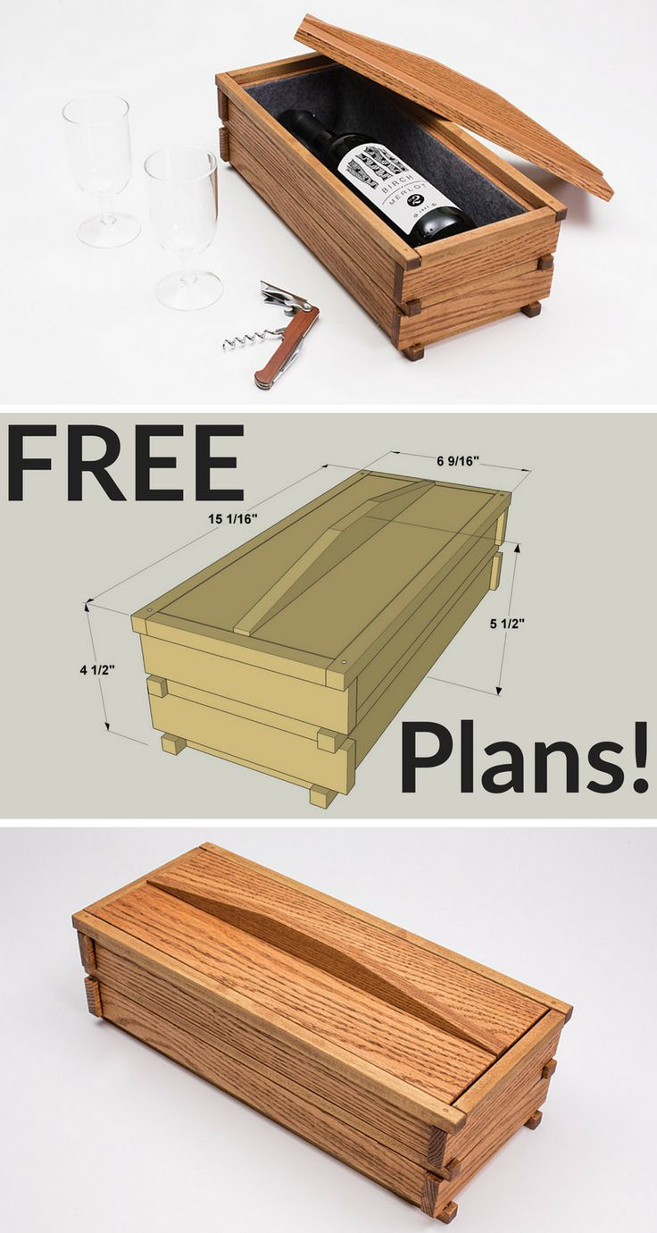 This DIY Wine Box makes a great DIY gift! Get the free project plans on buildsomething.com