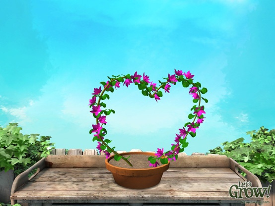 Happy Valentines mom... ! This card was created using the 'Let's Grow!' app for iPad. The 3D rotate tool in the app lets you rotate your plant and chose the right angle before taking a snapshot :-) With the app you can create, grow and design a series of unique virtual plants. More info at Letsgrowapp.com    #Valentines #letsgrow