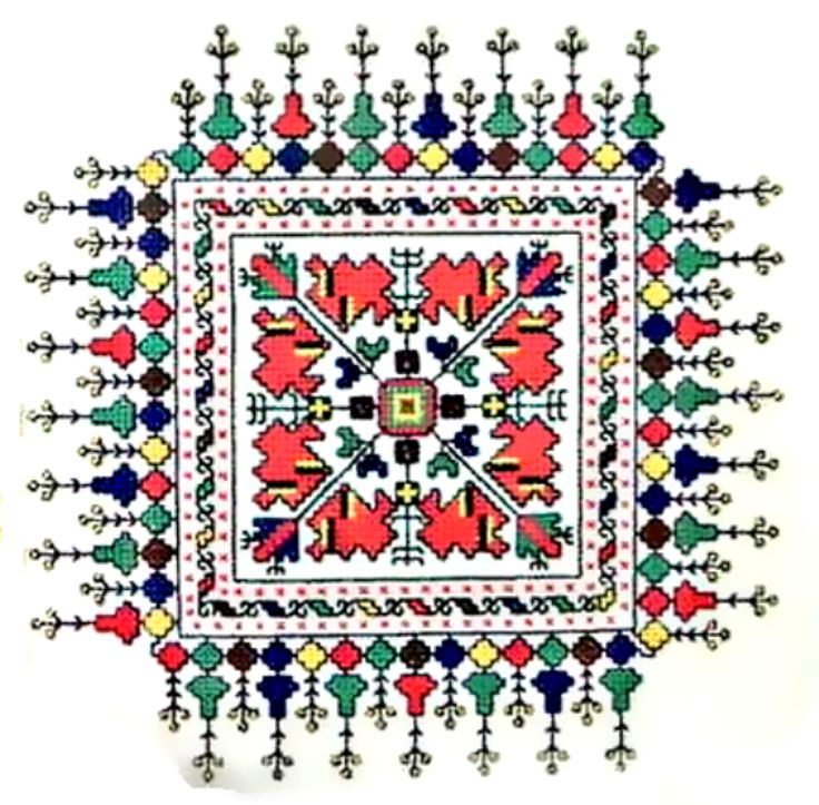 Bulgarian embroidery pattern ✳5