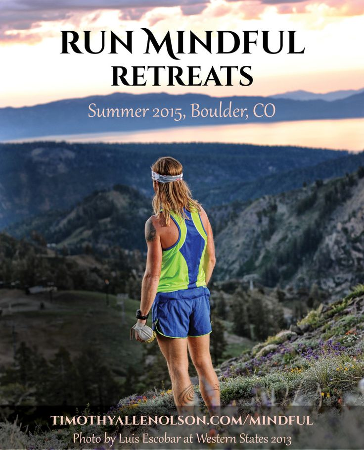 Run Mindful Retreats offers beautiful runs in Boulder, Colorado, USA. Founder and Ultrarunner @timmyolson_run explains about being present, healthy whole food and mindfulness for on the trail and off. Run Mindful Retreats brings together people who love nature and running/hiking. The primary topic is mindfulness, being taught through a shared love of trails. No focus on how to run or  running form, performance nutrition, racing, increasing speed; those talks will happen organically