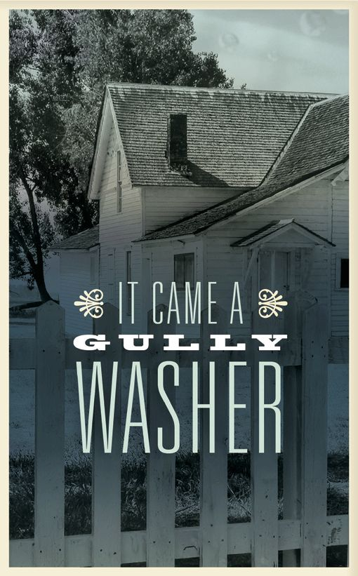It came a Gully-Washer! Southern Sayin's Greeting Cards - Made By Mallory